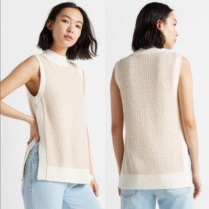 Club Monaco Stitchy Sweater Tunic Tank
